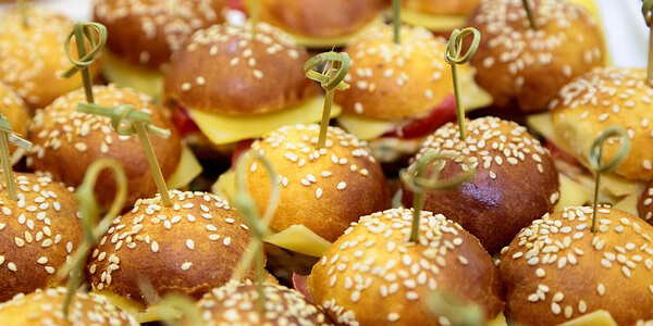 mini sandwich kids party catering