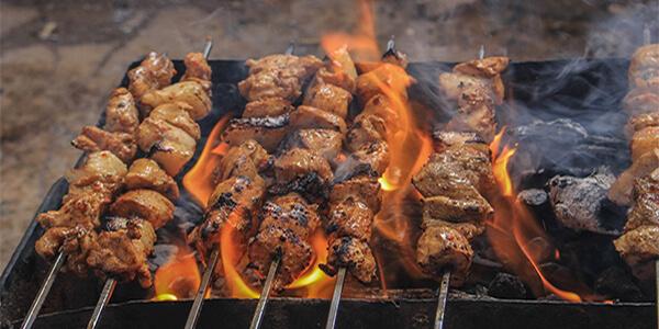 charcoal kebabs