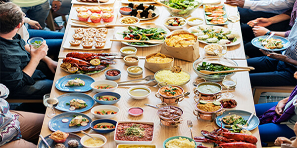 buffet catering for in house party