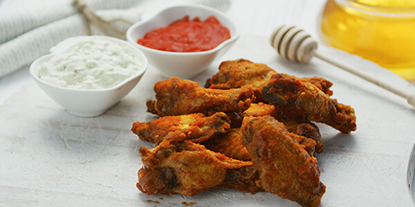 fried-chicken-wings for dinner party